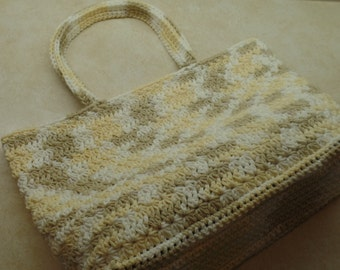Crochet Star Stitch Summer Bag Pattern 100% Cotton