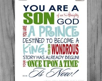 Son of God- Inspirational print Digital Download