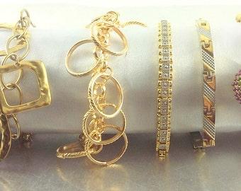 Vintage Gold Bracelet Lot x5