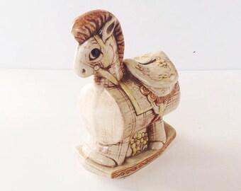 Vintage Ceramic Treasure Craft Rocking Horse Bank - Made in USA