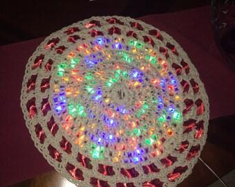LED Lighted crocheted rug