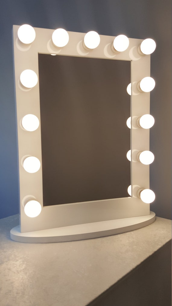 hollywood impact lighted vanity mirror w led bulbs. Black Bedroom Furniture Sets. Home Design Ideas