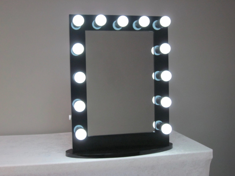 hollywood lighted vanity mirror w dimmer by lightedimpressions. Black Bedroom Furniture Sets. Home Design Ideas