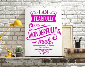 Fearfully and Wonderfully made Decal