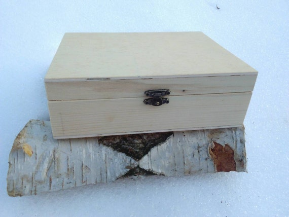 Unfinished Wood Treasure Chest ~ Unfinished wood box for diy projects treasure chest