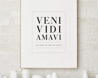 Love Quote Print, Italian Quote Print, Wall Decor Romantic Print Italian Poster Typography Print Inspirational Poster Larger Sizes