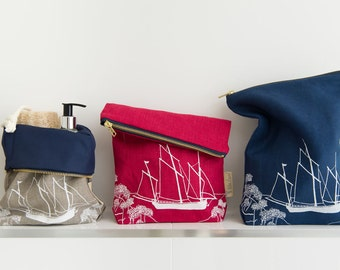 linen large toiletry bag from the coastal collection