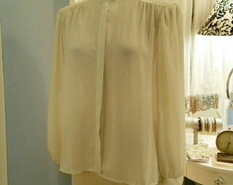 Cream colored dreamy vintage blouse.