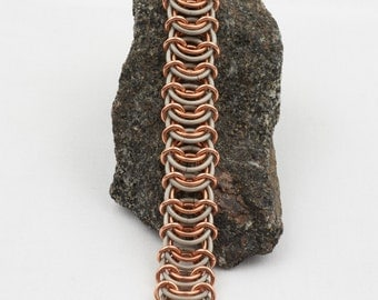 Titanium and copper Vertabrae bracelet