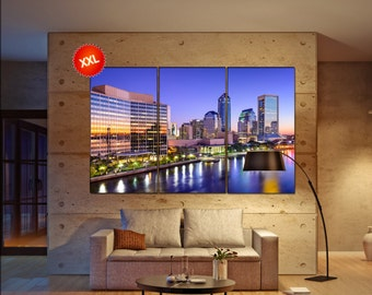 Jacksonville skyline  canvas wall art skyline Jacksonville wall decoration Jacksonville skyline canvas wall art art Jacksonville skyline