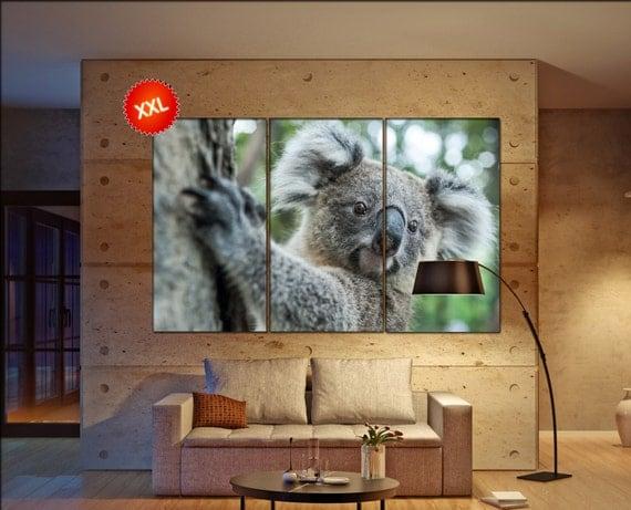 koala canvas wall art art  large  canvas wall art print koala Wall Home office decor interior Office Decor