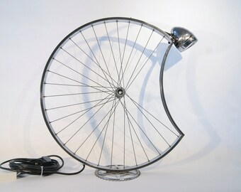 Bicycle wheel desk lamp - L5