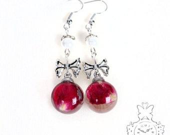 Lily pad earrings