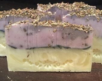 Handmade Lavender and Sage soap, natural, organic