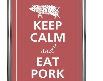 Keep calm and eat pork - Art Print - Keep Calm Art -  Prints - Posters - Motivational quotes - Keep Calm Poster