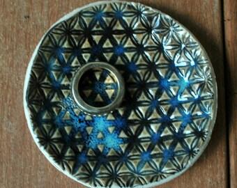 Ceramic Ring Dish Holder, Ceramic Ring Holder, Ring Dish Wedding, Turquoise Bowl, Textured Bowl, Trinket Dish, Ceramic Wedding Favors