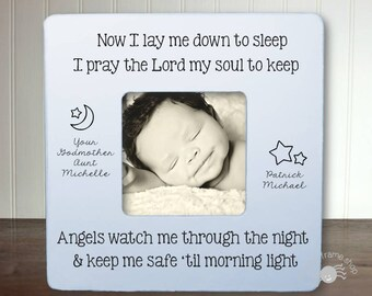 Frame from Godmother Baptism Gift Godchild Gift Christening Baptism Gifts for Godchild Now I Lay Me Down To Sleep IB3FSBAPT