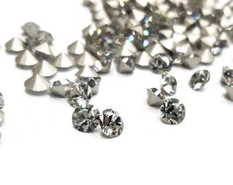 24 Pieces Shadow Crystal Colored Swarovski Crystals, #1028, Vintage, 24ss (5mm) Round