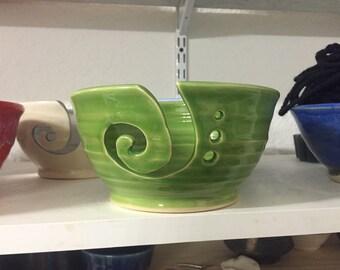 Green yarn bowl