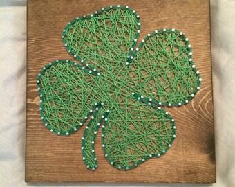 CUSTOM Shamrock String Art Sign, Saint Patrick's Day, Holiday Wall Decor, green, luck, four leaf clover, Christmas Gift, Christmas Present