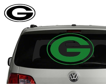 Green Bay Packers decal sticker for Car, Truck, Suv, Laptop, Man room, NFL decal