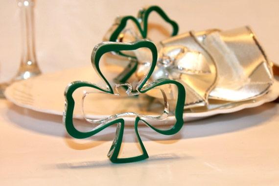 Green napkin rings Green Shamrocks Ornament Irish Wedding Decorations St Patrick's day Party gift for him Shamrock Gift for Her St Patrick's