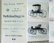 RARE Collectible First Auto Buggy Catalogue - Horseless Carriages - Auto Buggies - Ball Bearing Axles