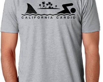 California Cardio Shark Week Fitted T-Shirt