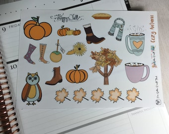 Planner Stickers-Cozy Autumn  Decorative Stickers