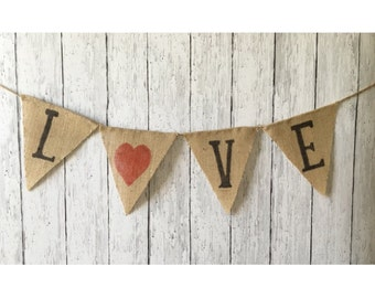 Diy kit wooden arrow sign love arrow rustic wood sign diy kit love burlap banner create your own craft kit valentines day solutioingenieria Image collections