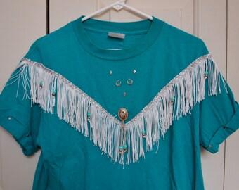 Fringe western shirt