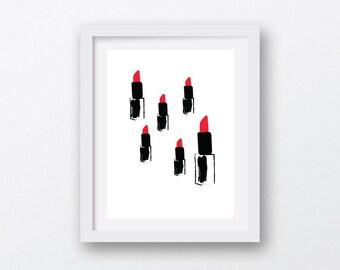 lipstick art, fashion art, lipstick print, lips art, red lipstick art, fashion printable, lipstick printable, woman art, lipstick red, lips
