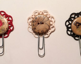 Planner Clips/Wooden Button Collection