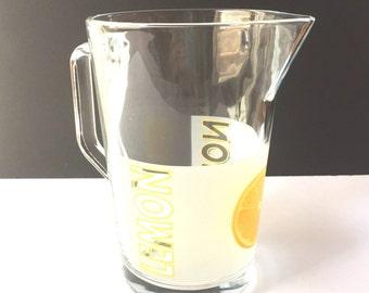 Retro Lemonade Pitcher