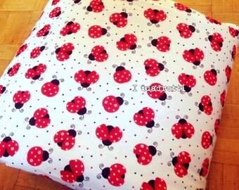 Red ladybugs quilt jacket