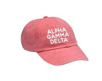 AGD Alpha Gamma Delta Simple Hat Choose Your Colors Sorority Hat