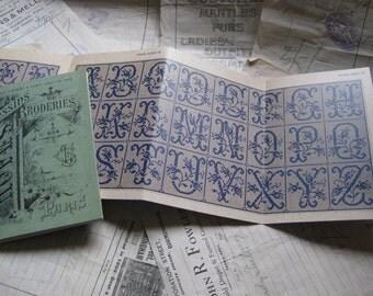 Sajou Green Cross Stitch Album 655- French Vintage Alphabets