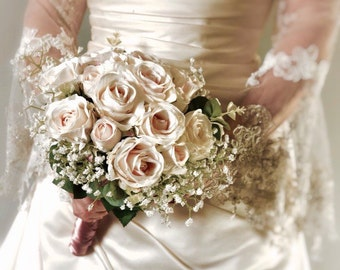 Artificial Bridal and Bridesmaid Bouquets