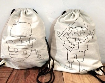 Backpack back to school/Rucksack/Turnbeutel/ Hand painted/ School/Gym bag/Bike backpack-backpack canvas/Toddler Backpack