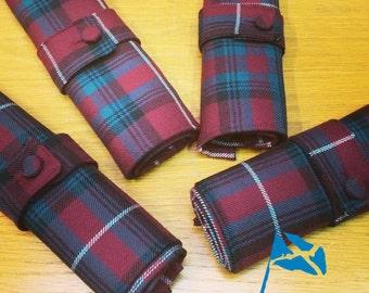 Wool Tartan Napkins and Tartan Napkin Rings