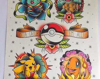 Pokémon flash print