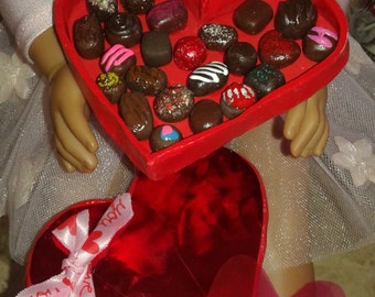 "Sweet Valentine Chocolate Candies & Cookies for American Girl 18"" Dolls"