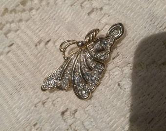 Vintage butterfly Brooch Costume 1940s Pretty