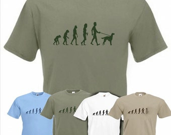 Evolution To Red Setter t-shirt Funny Dog T-shirt in sizes Sm to 2XXL