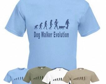 Evolution To Dog Walker t-shirt Funny Dog Walking T-shirt sizes Sm TO 2XXL