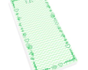 Kappa Delta Chevron Long Notepad
