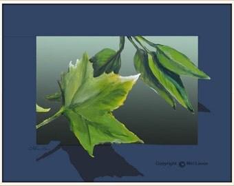 Modern Art Print, Modern Art Canvas, Landscape Print, Abstract Landscape, Art Canvas Blue and Green, Green Painting, Green Wall Art