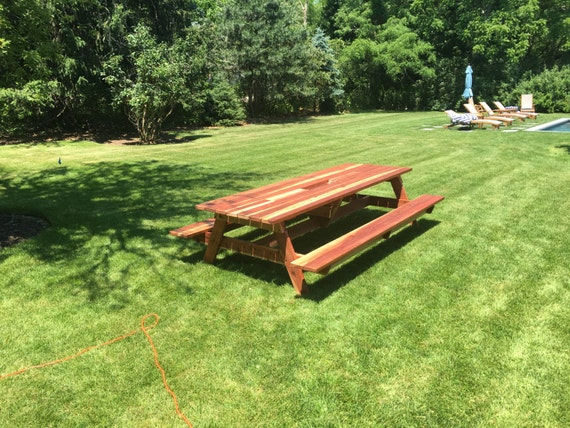 Redwood Planter/Cooler Picnic Table