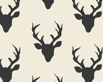 Stag curtain | Black and white curtains | kids blackout curtains | Hipster curtain | nursery curtains | custom drapes | window drapes