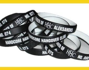 3 Customized silicone wristbands. Custom rubber bracelets. Personalised silicone bracelets. Friendship bracelets. Your attitude on wristband